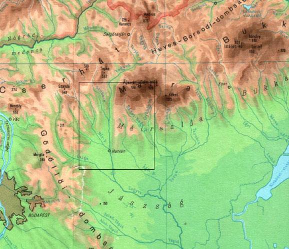 északi középhegység térkép A hatvani terseg vegetacioja C(2005): MZs északi középhegység térkép